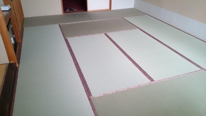 十和田湖のホテル508枚表替え、新畳入れ替え完了しました。