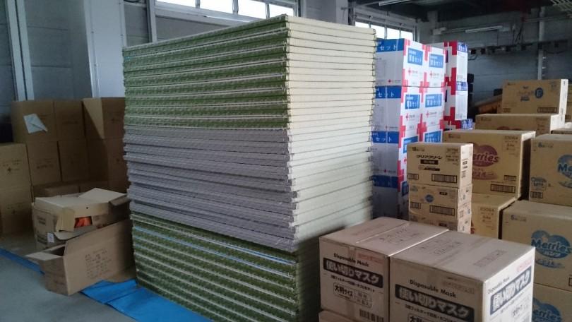 5日で5000枚の約束プロジェクトで久慈市に100枚畳納入。