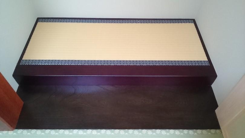 今年最初の仕事は、床の間のある床暖仕様の15mm仕上がり畳です。