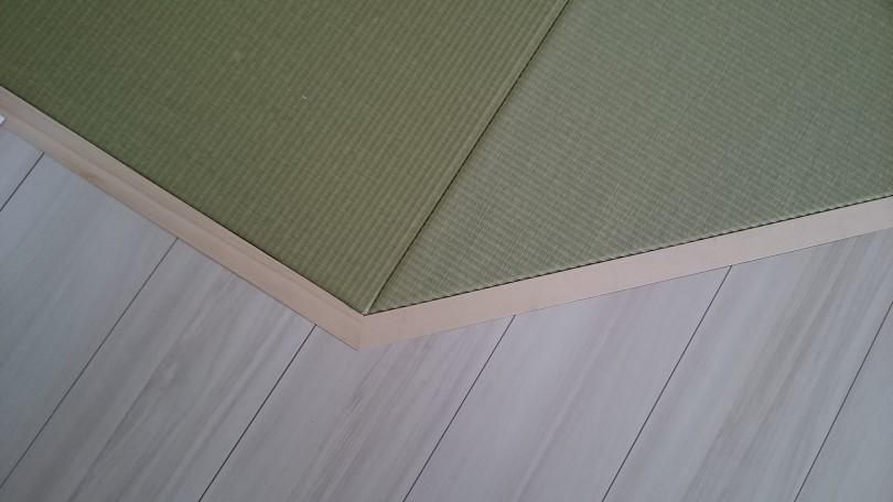 15mm縁無し畳の三角形を含む畳敷込みです。