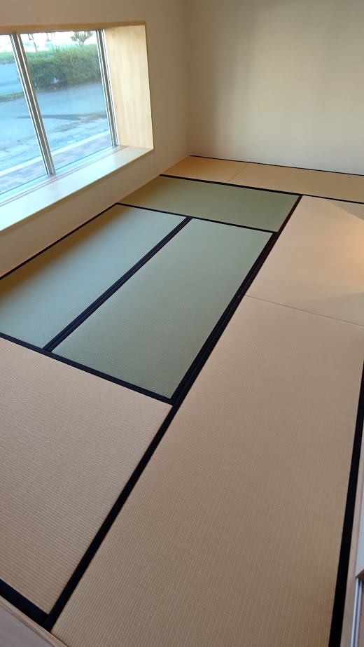 和紙表の畳が益々多く納入されていますよ!